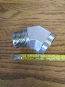 188904 New-No Box, Parker 1 CD45-S Pipe Elbow, 45Deg, 1MNPT x 1FNPT, Steel