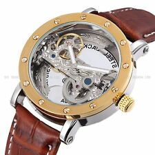 Gents Womens Skeleton Unisex Automatic Mechanical Tourbillon Crystal Watch 9541S