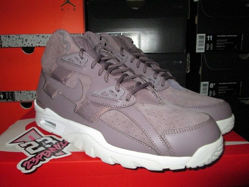 21ff583be6e9 SALE NIKE NIKE NIKE AIR TRAINER SC HIGH TAUPE GREY WHITE SZ 10 12 13 NEW  302346 201 DS d1c9dc