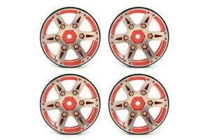 Fastrax 1.9 Heavyweight Split 6 Beadlock Alliage Roues Fast0146r Rouge 5056135711187