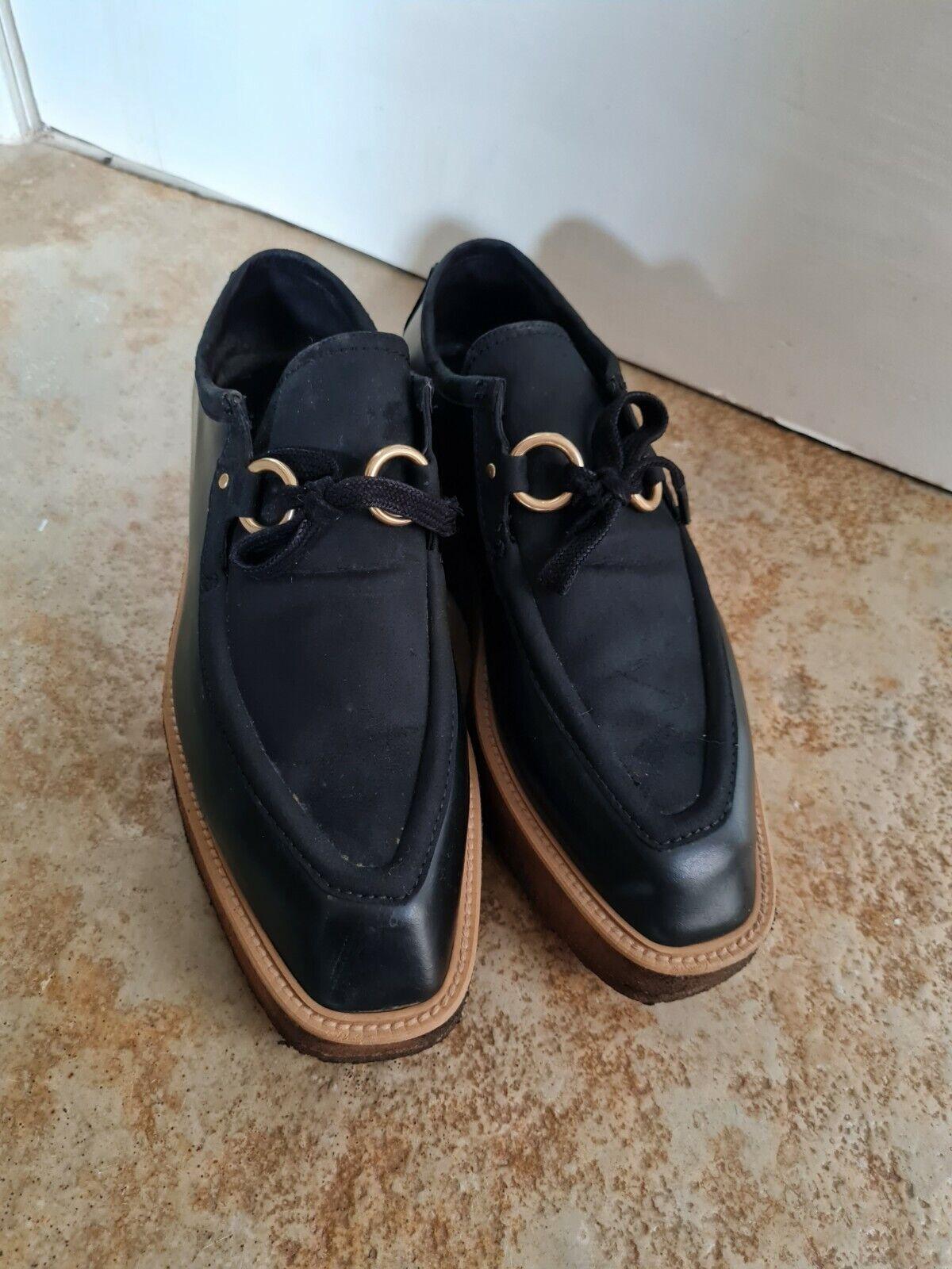 STELLA MCCARTNEY Brody Vegan Platform Loafers In Black Size 38.5 UK5.5