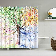Multi Tree Printing Shower Curtain Bathroom Waterproof Extra Long 180X180cm New