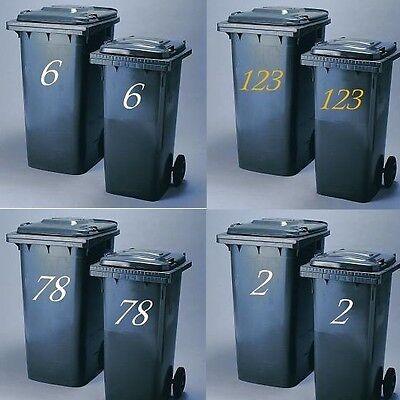 2 Pack Wheelie Bin Numbers