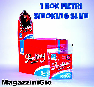 30 BUSTINE FILTRI SMOKING SLIM 6 mm, 3600 filtrini, 6mm, 1 BOX [MG]