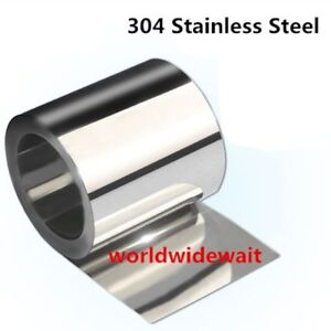 1pc Stainless Steel S304 Thin Plate Sheet Foil 0.05mm 0.25mm x 100mm x 1000mm