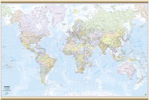 Cartina Mondo Png.Carta Geografica Murale Mondo 132 X 87 Cm Belletti Cartina Ebay