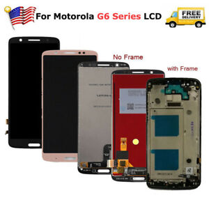 For-Motoroal-Moto-G6-Play-G6-Plus-LCD-Touch-Screen-Digitizer-Replacement-Frame