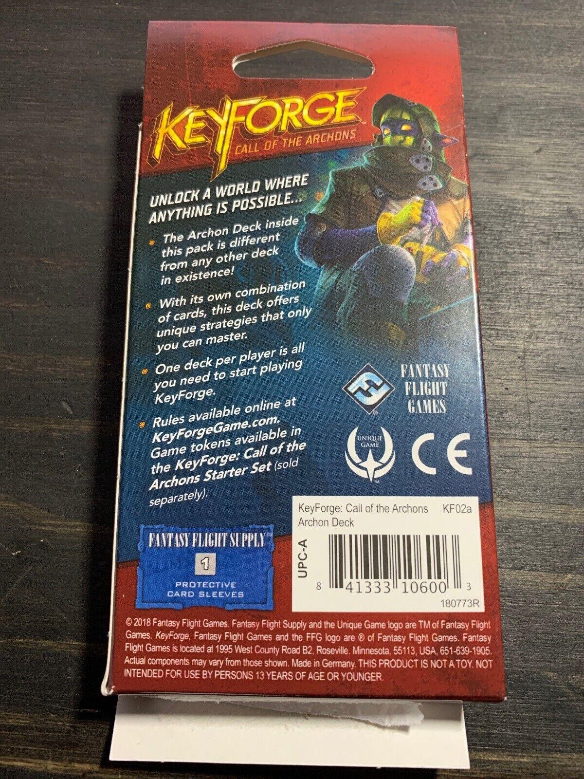 "KeyForge COTA Played Archon Card Deck ""Houses"" Dis - Mars - Untamed"