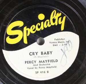 Hear-R-amp-B-78-Percy-Mayfield-Cry-Baby-Hopeless-On-Specialty
