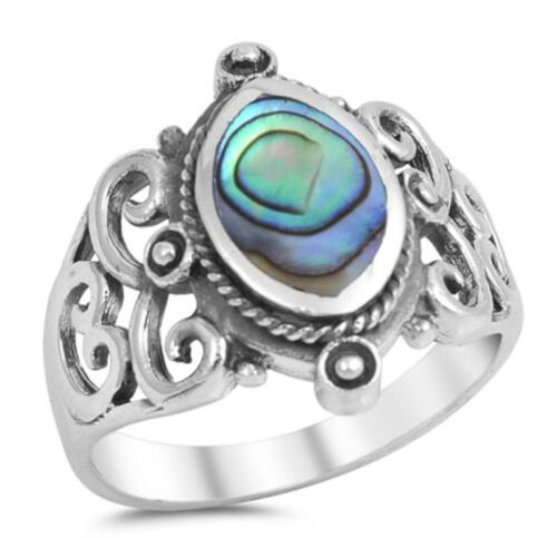 USA Seller Stone Ring Sterling Silver 925 Best Deal Jewelry Selectable Abalone