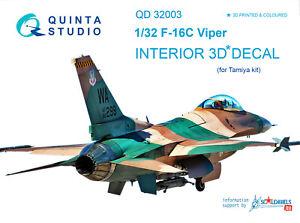 Quinta-QD32003-1-32-F-16C-3D-Printed-amp-coloured-interior-for-Tamiya-kit