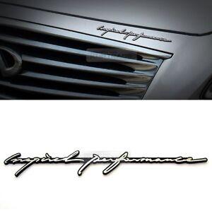 Image Is Loading Inspired Performance Infiniti Lettering Emblem Point Logo Badge