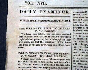 Rare-CONFEDERATE-Capital-of-the-Confederacy-1864-RICHMOND-VA-Civil-War-Newspaper