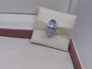 cd1e613d4 New w/Box Pandora Ice Drops Murano Glass w/CZ's Bead Charm 796365CZB ...