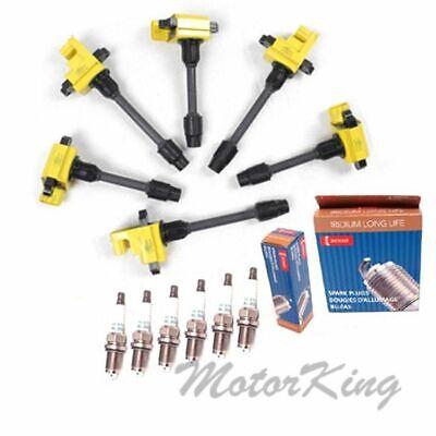 6 Epoxy IGNITION COIL /& 6 Spark Plug For Nissan Maxima B302Y*3 B303Y*3 IC238