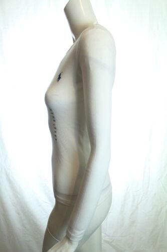 BNWT RALPH LAUREN SPORT WOMEN BASIC CREW NECK WHITE T-SHIRT SIZE M RRP £50