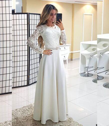Langarm Brautkleid Ballkleid Hochzeitskleid Abendkleid TOP Kleid Braut BC646