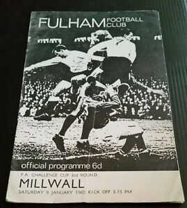 Fulham v Millwall FA Cup 3rd Rd Programme 090165 - Nuneaton, United Kingdom - Fulham v Millwall FA Cup 3rd Rd Programme 090165 - Nuneaton, United Kingdom