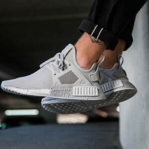 adidas originals nmd xr1 silver boost sneakers in gray