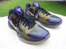 Nike Kobe V 5 Black Chrome Purple Yellow Playoff Carpe Diem 395780-001 10.5 44.5