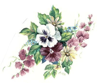 """Blue Cornflower Flower 4 pcs  3/"""" X 2/""""  Waterslide Ceramic Decals Tx"""