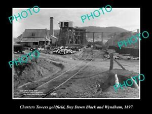 OLD-8x6-HISTORIC-PHOTO-OF-CHARTERS-TOWERS-QLD-THE-DAY-DAWN-LACK-MINE-1897