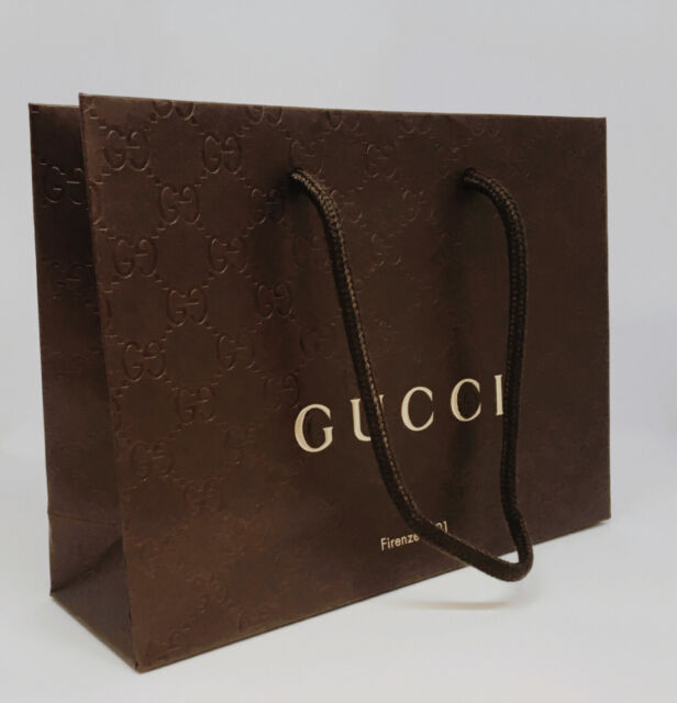 51f2592b04b Gucci Brown Paper Gift shopping Bag- in Plastic Wrapper for sale ...