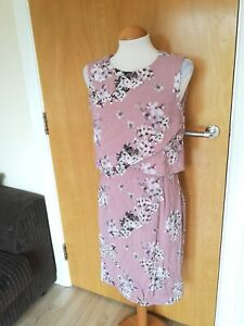 Ladies-PHASE-EIGHT-Dress-Size-12-Pink-Floral-Smart-Party-Wedding-Races