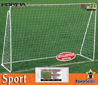 Coppia 2 porte calcetto SPORT ONE regolauominitare 300x120x200 cm porta calcio rete