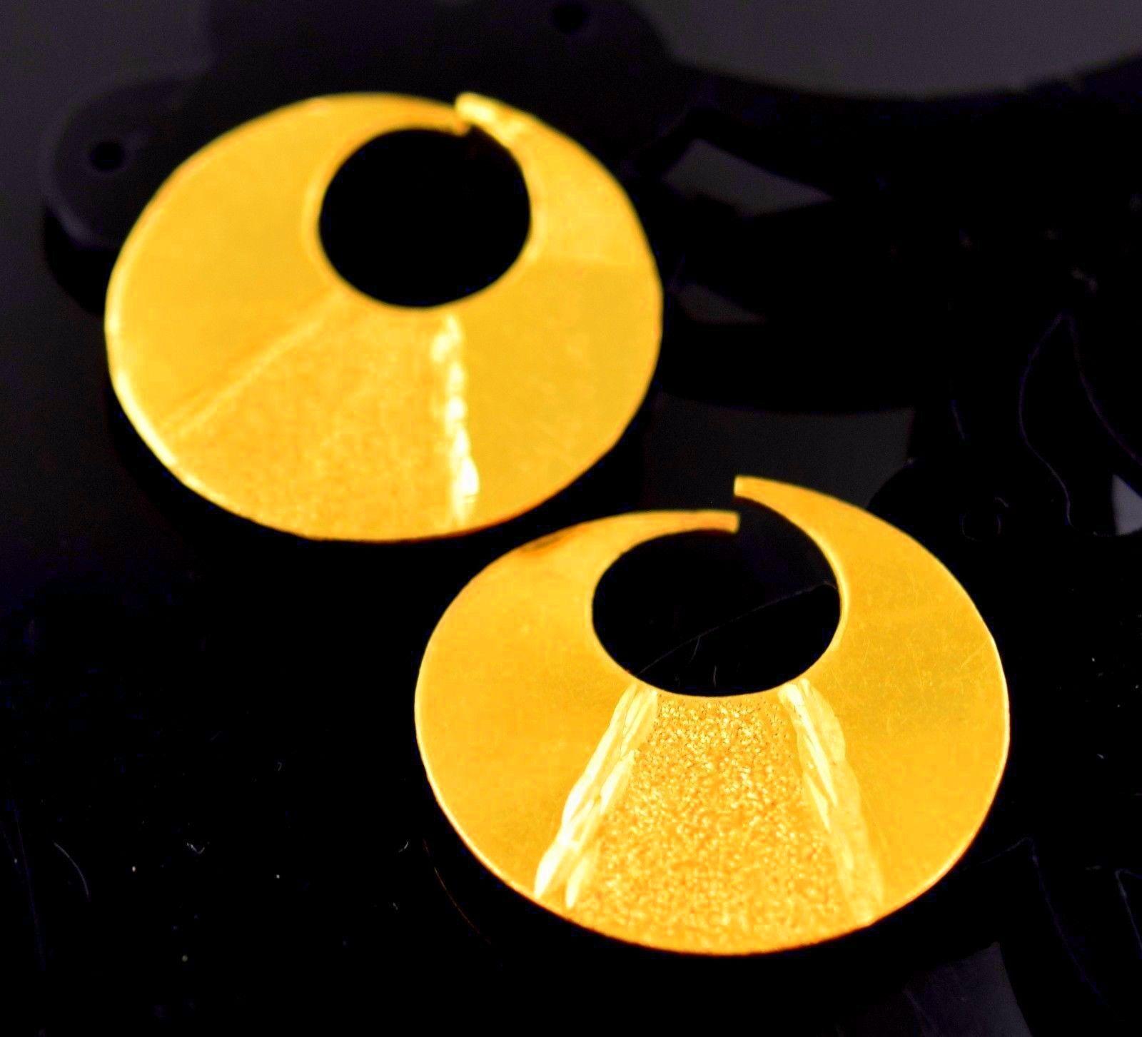 HANDMADE 22 CARAT  YELLOW gold MURKI MURKIYA EARRING HOOP PAIR DESIGH