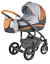 Adamex-VICCO-Carmel-amp-Grey-3in1-luxury-stroller-kinderwagen-pushchair-car-seat miniatura 10