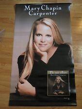 "2001 MARY CHAPIN CARPENTER ""Time * Sex * Love"" Concert Tour 24x42 Vinyl Banner"