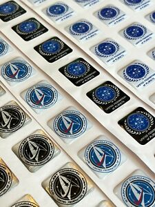 Custom Star Trek Starfleet / Federation Computer Case Badge 1x1 DOMED Sticker