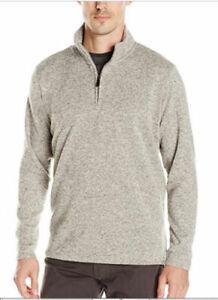 Men-039-s-Wrangler-Quarter-Zip-Fleece-Pullover-Groesse-3xl-4xl-Sweatshirt-Top-Grau