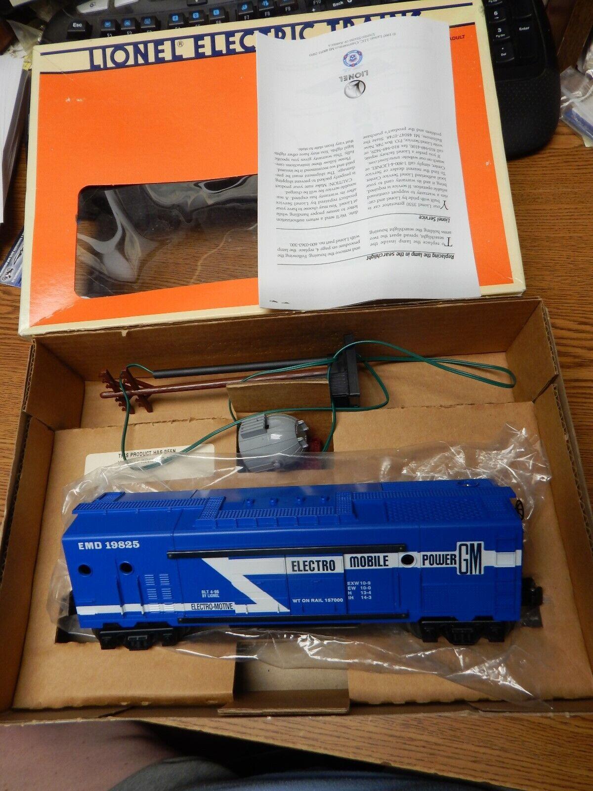 LIONEL 6-19825 ELECTRIC POWER GENERATOR CAR LOOKS NEW IN BOX O SCALE LQQK