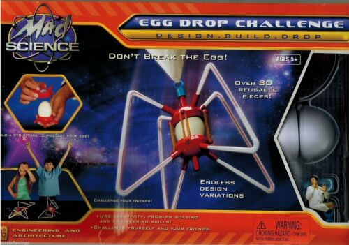 NEW Mad Science Egg Drop Challenge Kit. REUSABLE! Engineering & Architecture.