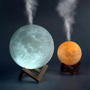 Umidificatore d'aria 880 ml Luna 3D lampada Aroma Essential Olio Diffusore