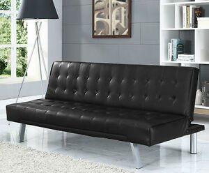 Image Is Loading Modern 3 Seater Designer Sofa Bed Faux Leather