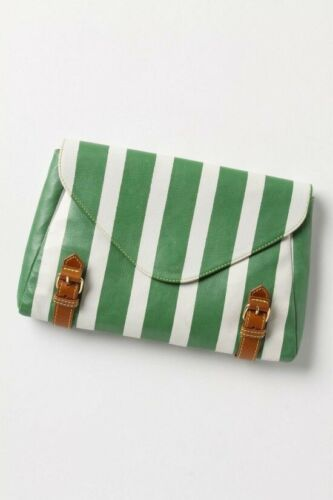 Anthropologie Holding Horses Striped Clutch