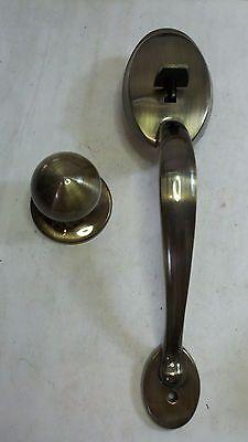 U.S.LOCK MODEL USL2090DHL3 LAREDO SOLID BRASS GOLD ENTRANCE HANDLE SET