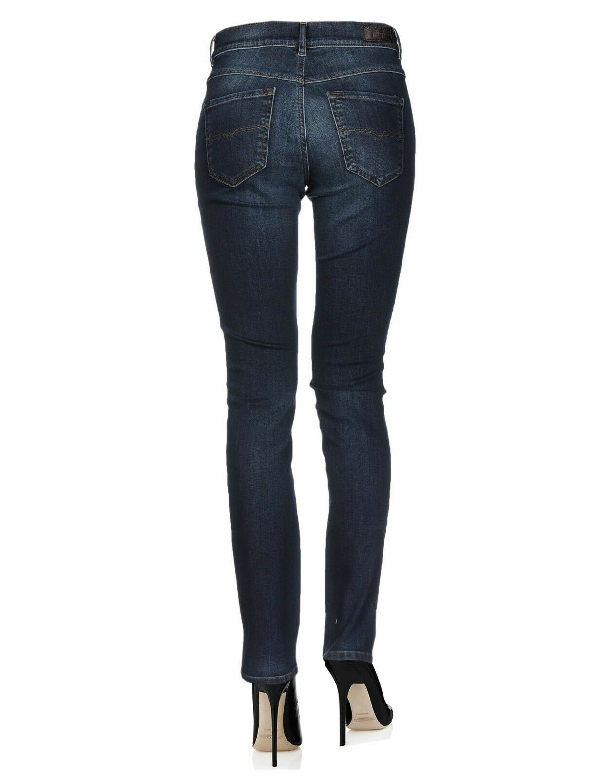 Donna Skinny Super Slim Diesel Jeans Skinzee in blu e e e nero vita regolare ea15c3