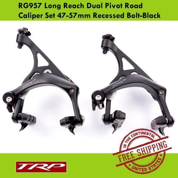 TRP RG957 Road Bike Long Reach Dual Pivot Caliper Set Recessed Bolt (47-57mm)