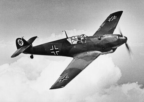 Canvas Messerschmitt BF.109 Fighter in Flight During Testing Art print POSTER