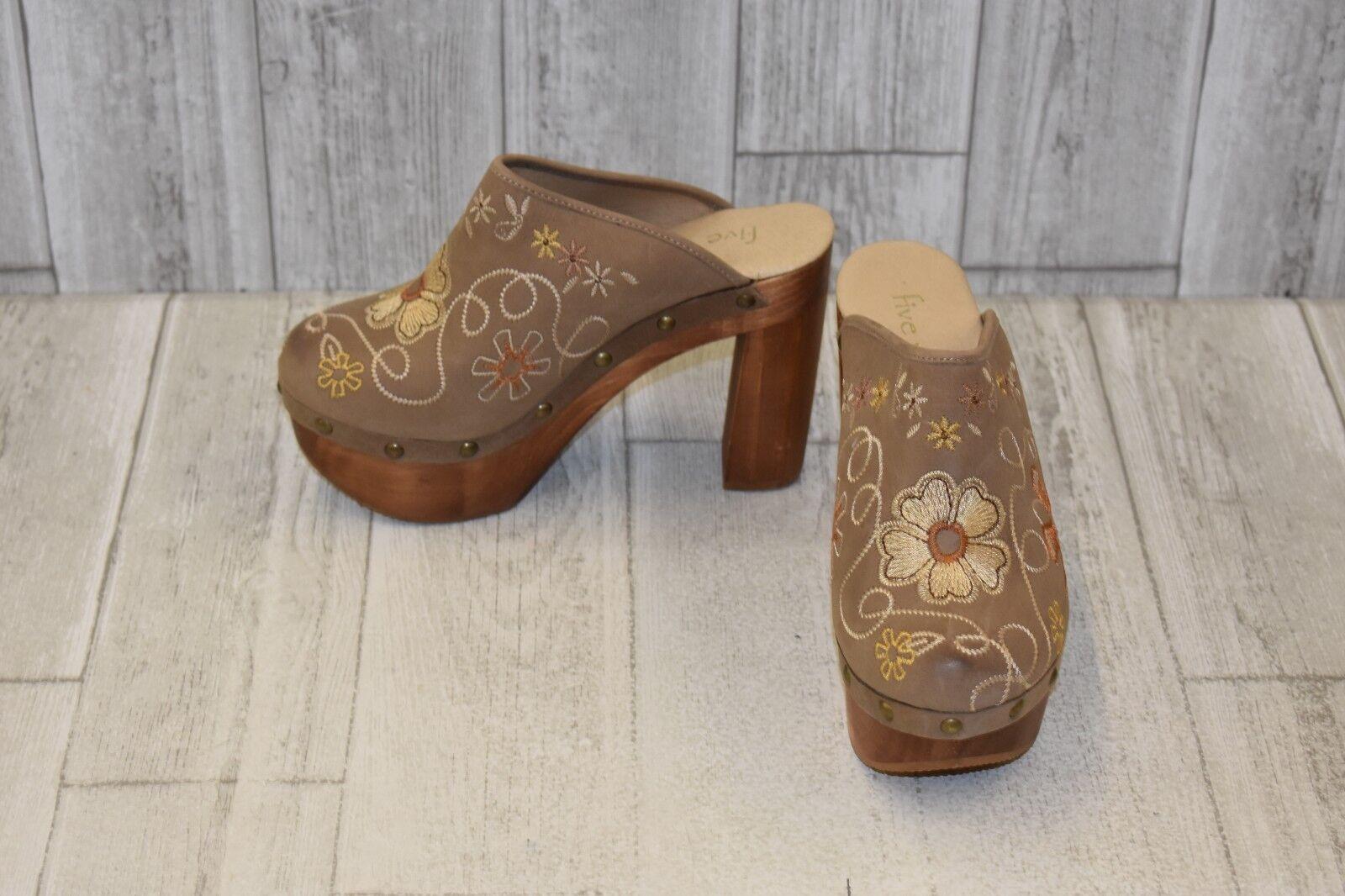consegna diretta e rapida in fabbrica Five Worlds by Cordani Senora Senora Senora Embroidered Mules - Donna  Dimensione 7.5 - Bisque  nuovo di marca