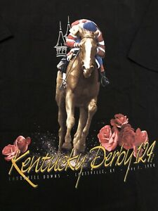 Vintage-1998-Kentucky-Derby-T-Shirt-Men-Size-XL-Black-New