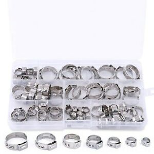 1X-70Pcs-Set-Oreille-Simple-A-Sertir-Collier-De-Serrage-Oreille-Simple-Colli-uh