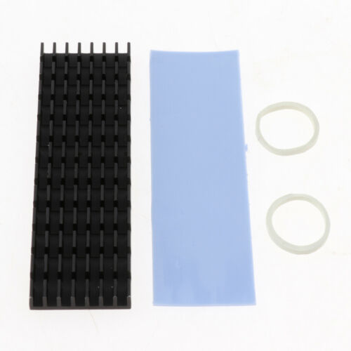 2 Pieces M.2 2280 SSD Solid State Drive Heatsink Cooler Silicone Thermal Pad