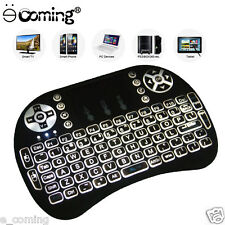 Mini Wireless 2.4Ghz Keyboard Mouse Remote Backlit For Raspberry Pi PC Android