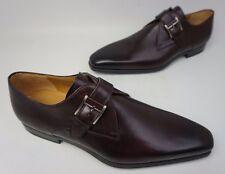 Magnanni Hugo Monk Strap Slip On Burgundy Leather Men's Shoe Size 12 M $350 NEW