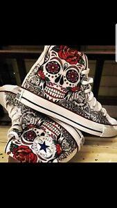 2converse all stars skull